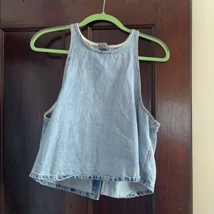 Cute button down Jean tank top from Lucky brand!